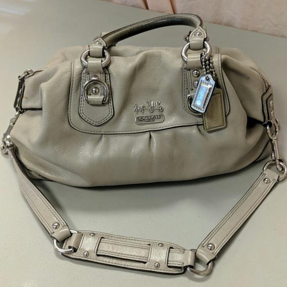 84d7465603 Coach Bags   Vintage Madison Sabrina Gray Leather Satchel   Poshmark